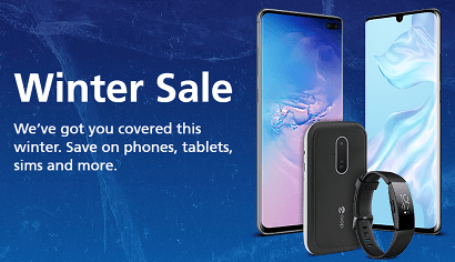 O2's Winter Sale banner