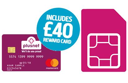 Plusnet Mobile Reward Card offer