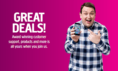 Plusnet Mobile Great Deals Banner
