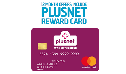 Plusnet Mobile's pre-paid Mastercard offer banner