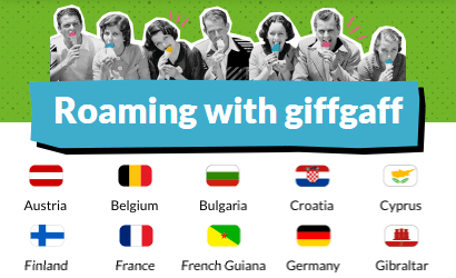 giffgaff roaming banner with flags