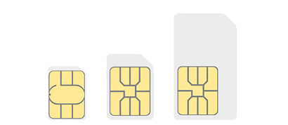 Standard, micro and nano SIM cards