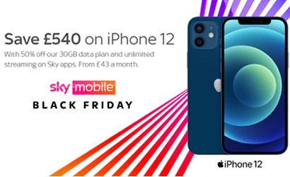 iPhone 12 Black Friday offer banner