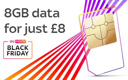 Sky Mobile 8GB for £8 SIM