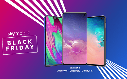Black Friday banner with phones