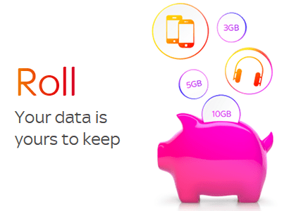 Sky Mobile's Roll data rollover scheme