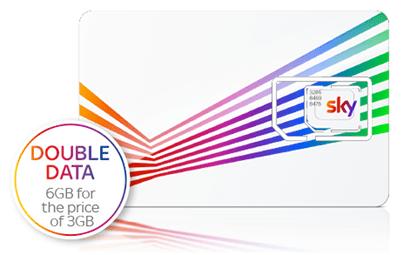 Sky Mobile double data offer banner