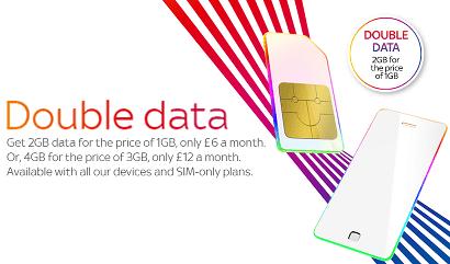 Sky Mobile double data offer