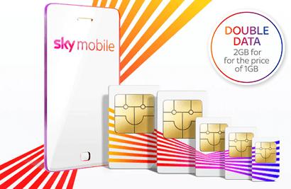 Sky Mobile 8GB offer banner