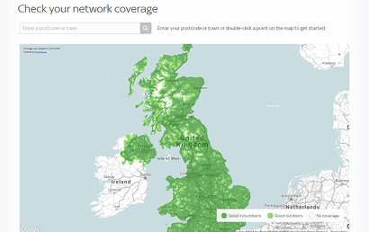 Sky Mobile indoor coverage map
