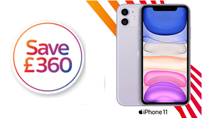 Save £360 on iPhone 11
