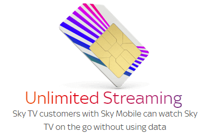 Sky SIMs with unlimited streaming