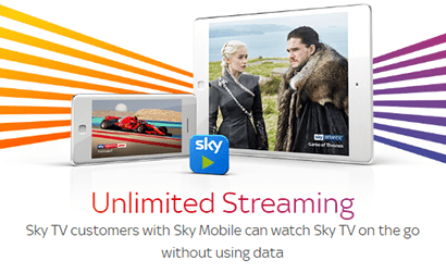 Sky Mobile Unlimited Streaming banner