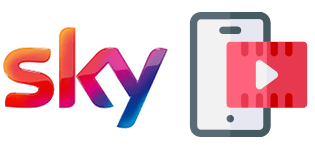 Sky logo and smartphone streaming