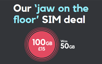 SMARTY 100GB for £15 offer banner