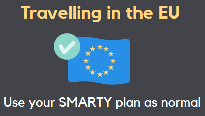 SMARTY unlimited data free EU roaming