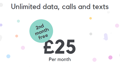 SMARTY unlimited plan free month