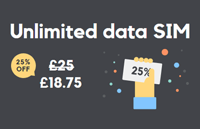 SMARTY Unlimited data offer banner