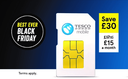 Tesco Mobile pre Black Friday SIM only offers