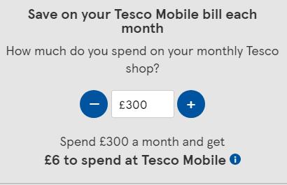 Tesco Mobile discount calculator