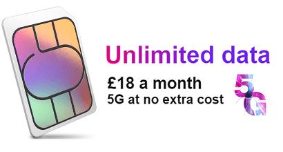 Three's unlimited data SIM