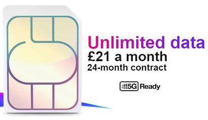 Three unlimited data SIM
