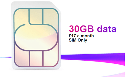 Three 30GB SIM only