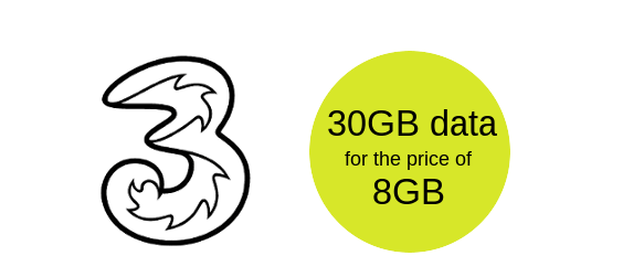 30GB for the price of 8GB
