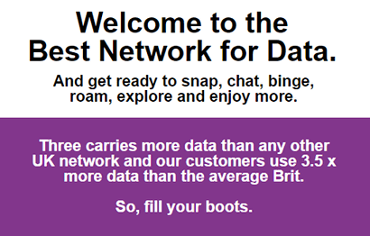 Three best network for data banner