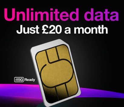 Three's Black Friday unlimited data deal
