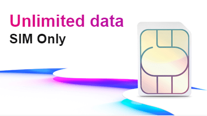 Three unlimited data SIM only banner