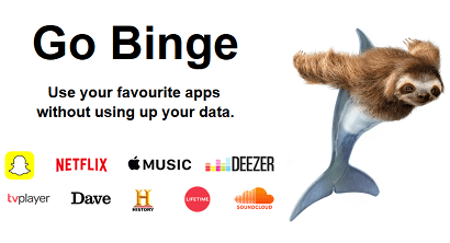 Three Go Binge banner