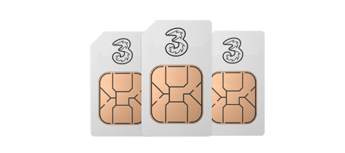 Three pre-loaded SIM