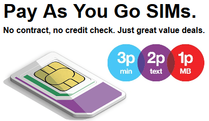 Three's no credit check payg SIMs