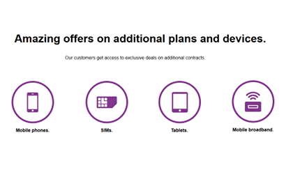 Three existing customer offers screenshot
