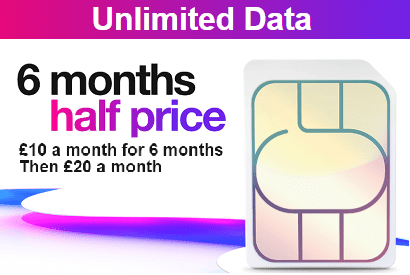 Three's unlimited data SIM offer
