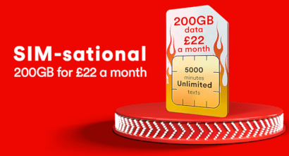Virgin Mobile 200GB for £22