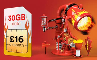 Virgin Mobile 30GB deal