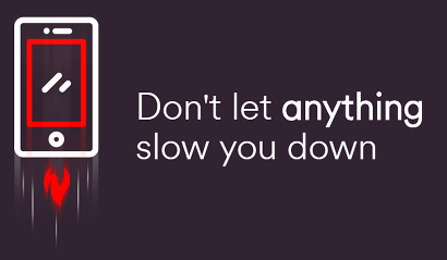 Virgin don't let anything slow you down banner