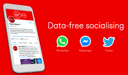 Data-free Whatsapp, Facebook Messenger and Twitter