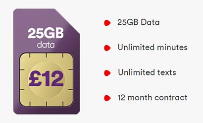 Virgin Mobile 25GB SIM banner
