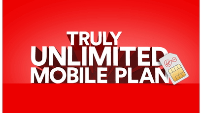 Virgin's truly unlimited mobile plan