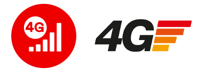 Three and Virgin Mobile's 4G logos