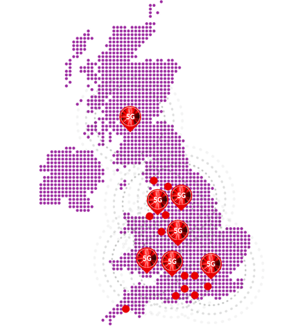 Vodafone 5G network map