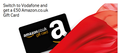 Vodafone Amazon voucher offer