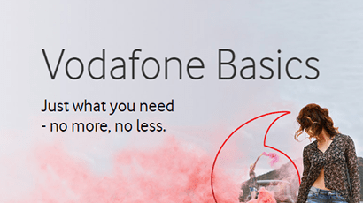 Vodafone winter sale banner