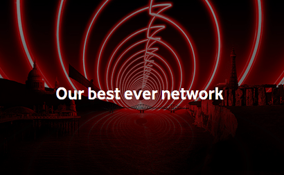 Vodafone Best Ever Network banner