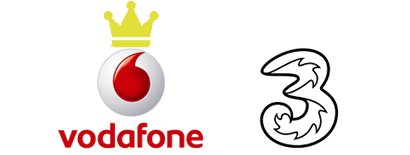Vodafone logo with crown on top