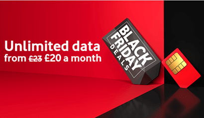 Vodafone Black Friday unlimited data deal