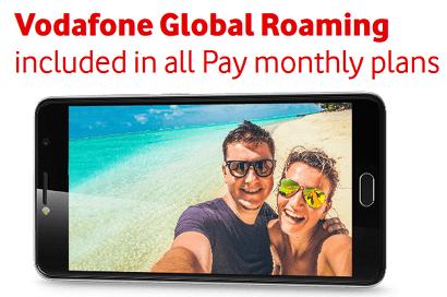 Vodafone Global Roaming banner